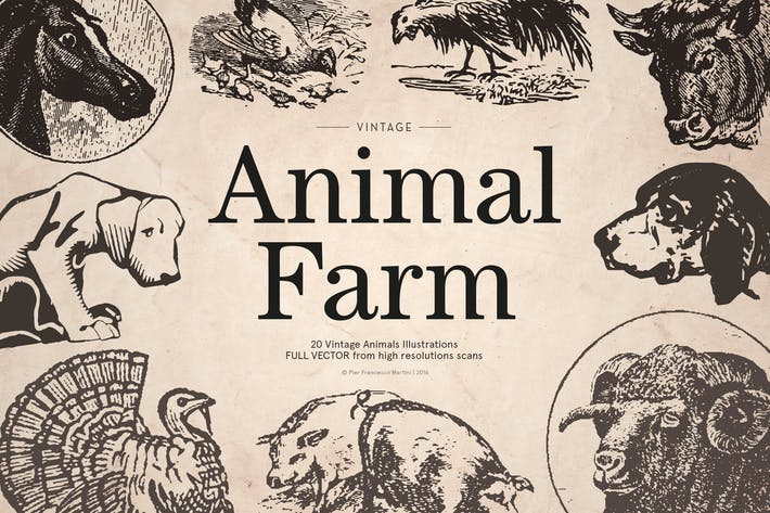 Thumbnail for Vintage Animal Farm Illustrations