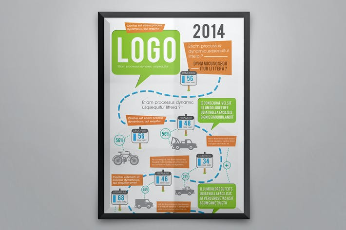 Cover Image For Creative Infographics Road Map Template