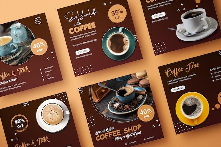 Thumbnail for Modèle de bannière Coffe