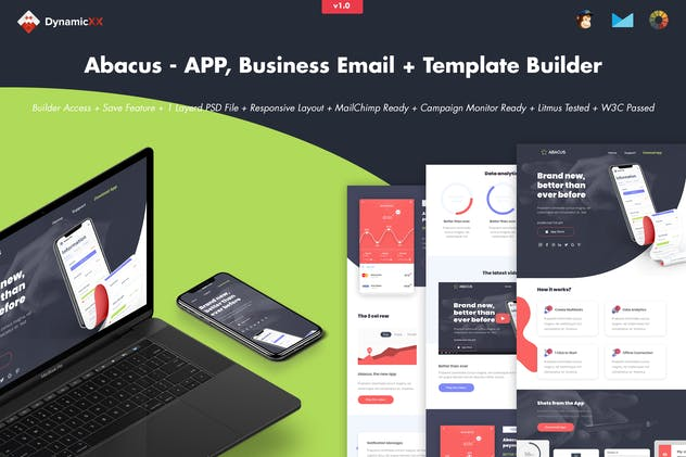 Abacus - APP, Business Email + Template Builder - product preview 0