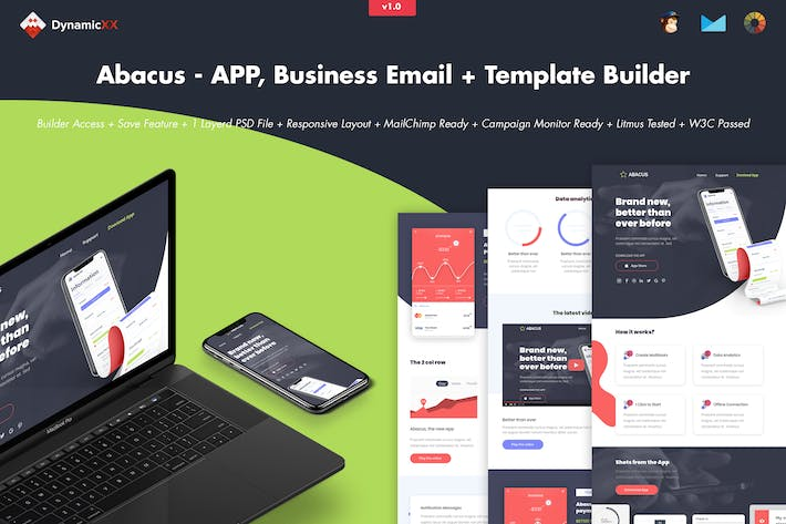 Thumbnail for Abacus - APP, Business Email + Template Builder