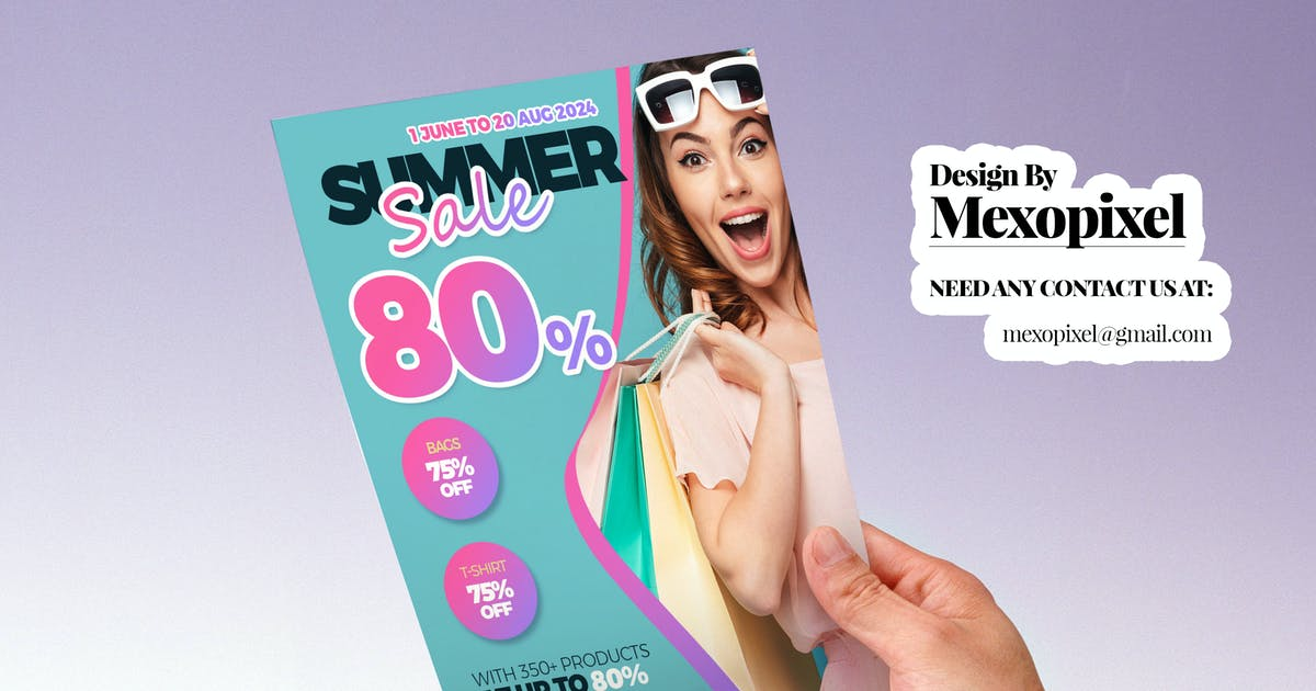 Download High Quality Discount Flyer PSD Design Template by Unknow