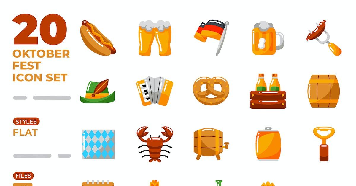 Download Oktoberfest Icon Set (Flat) by medzcreative