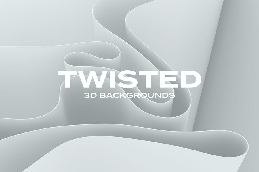 3D Twisted Backgrounds