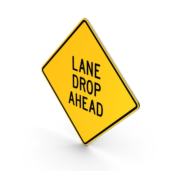 Lane Drop Ahead Road Sign