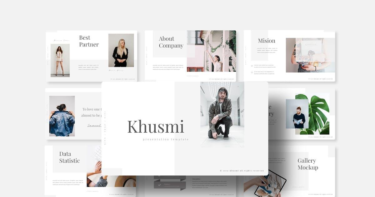 Download Khusmi - Keynote Template by queentype