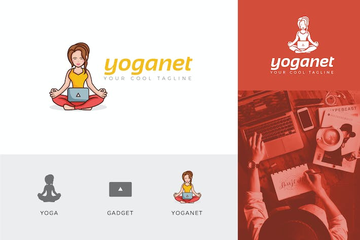 Thumbnail for Yoganet Wellness Corporate Logo Vector Template