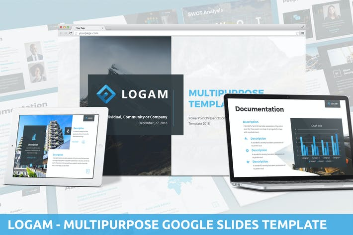 Thumbnail for Logam - Multipurpose Google Slides Template