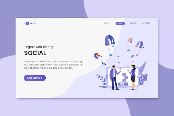 Thumbnail for Social Marketing Landing Page