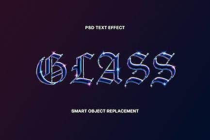 Голографический стеклянный текстовый эффект