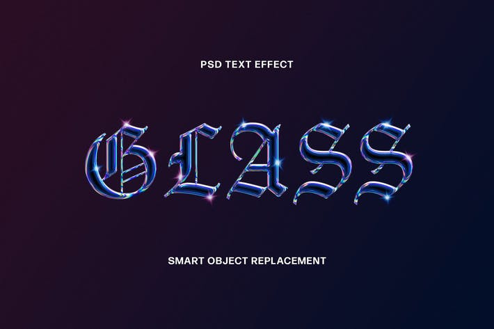 Thumbnail for Holographic Glass Text Effect