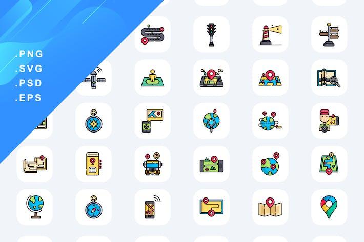 50 Standort-Icons