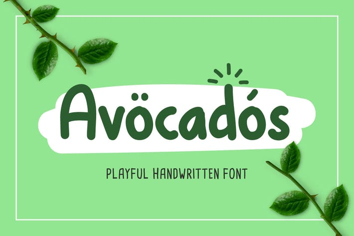 Thumbnail for Avocado - Cute Font