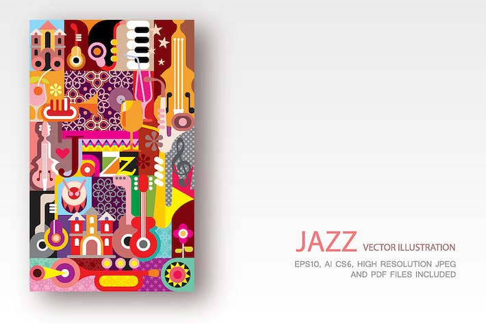 Thumbnail for Jazz Festival Poster vector illustration