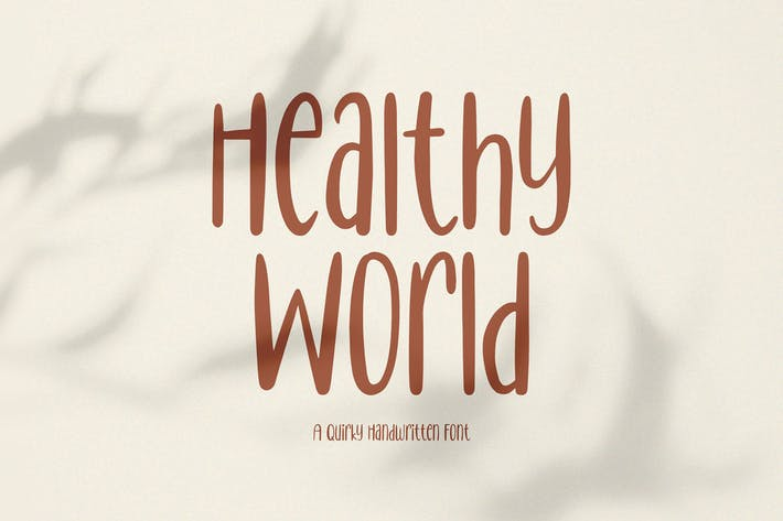 Healthy World // Handwritten Font