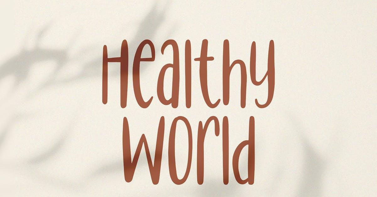 Download Healthy World // Handwritten Font by axelartstudio