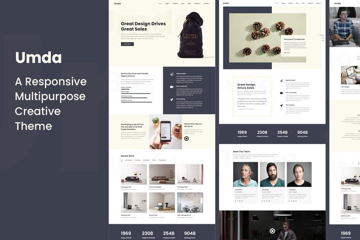 Thumbnail for Umda - Responsive Multipurpose Creative Theme