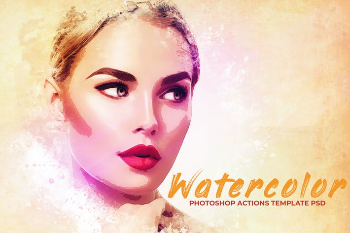 Thumbnail for Watercolor Photoshop PSD Template