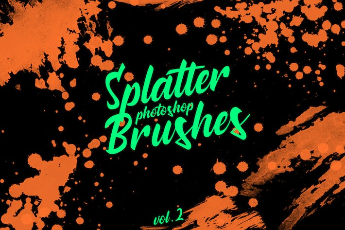 Thumbnail for Splatter Stamp Photoshop Brushes Vol. 2
