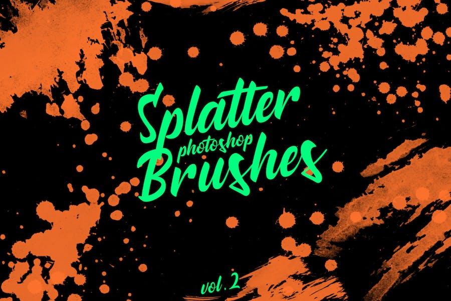 Splatter Stamp Photoshop Brushes Vol. 2