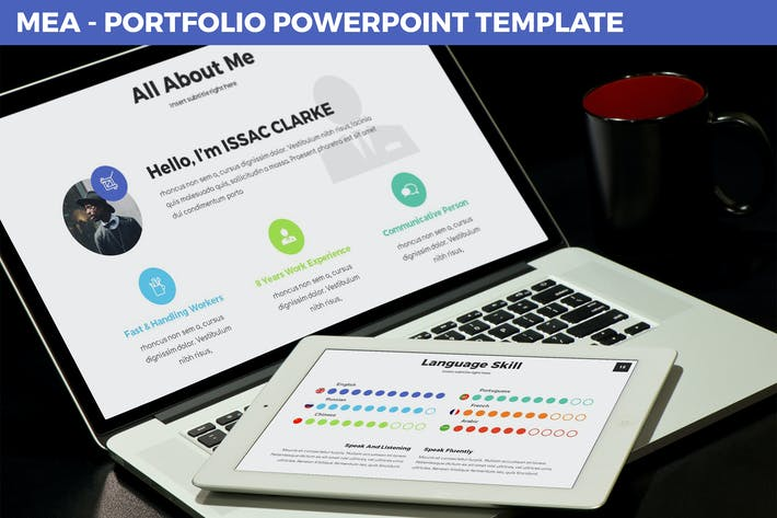 Thumbnail for Mea - Portfolio Powerpoint Template