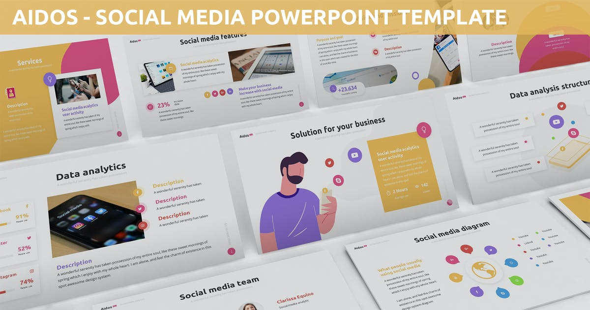 Download Aidos - Social Media Powerpoint Template by SlideFactory