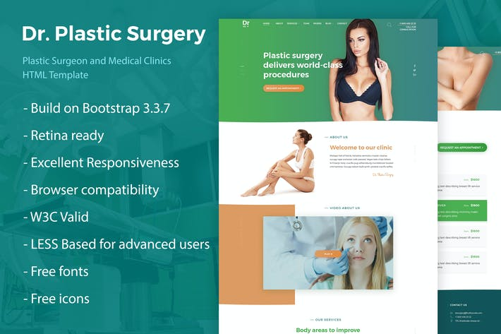 Thumbnail for Dr. Plastic Surgery - HTML Template