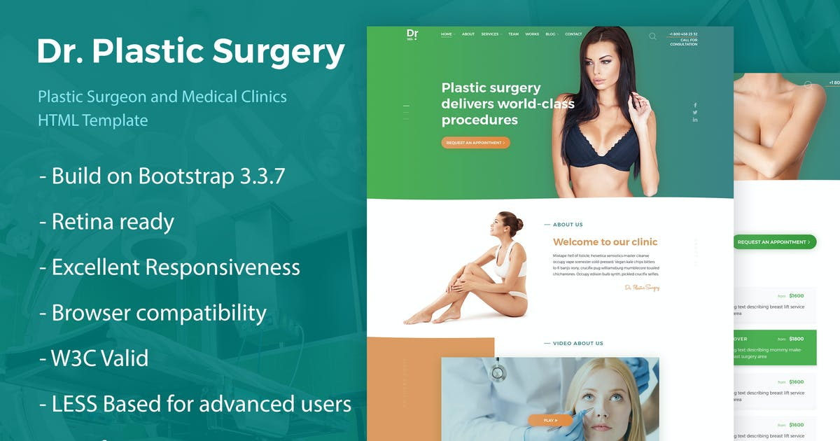 Download Dr. Plastic Surgery - HTML Template by fruitfulcode