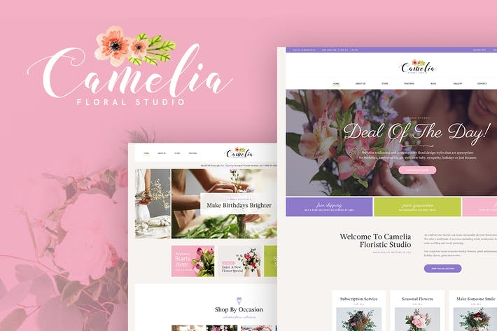 Cover Image For Camelia - A Floral Studio WordPress Theme