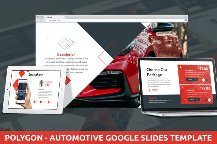 Thumbnail for Polygon - Automotive Google Slides Template