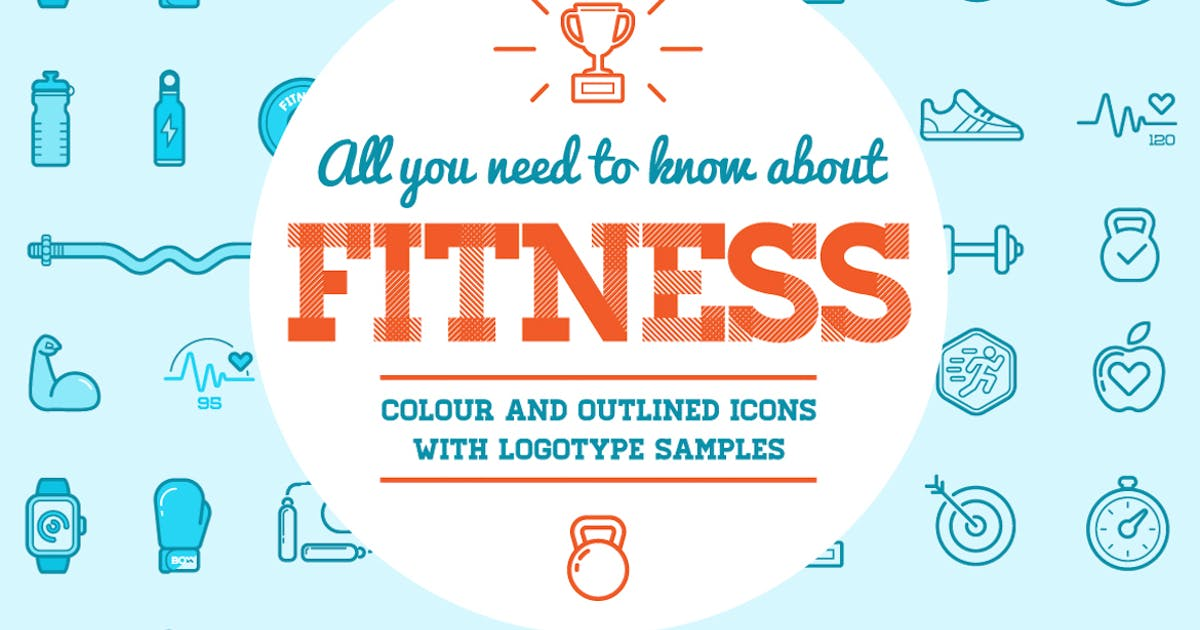 Download Fitness Icons and Logo Set 2 by CkyBe