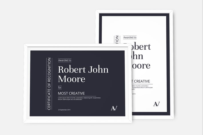 Cover Image For Minimal Certificate Template