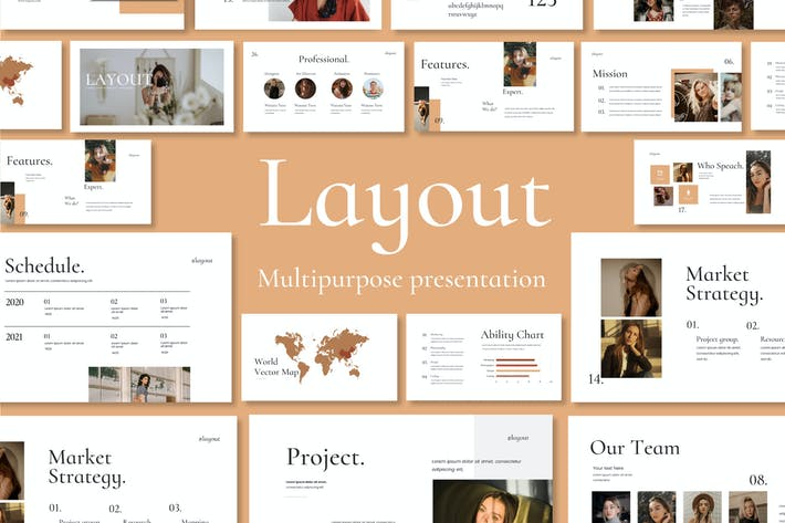 Thumbnail for Layout Vol. 2 Powerpoint Template
