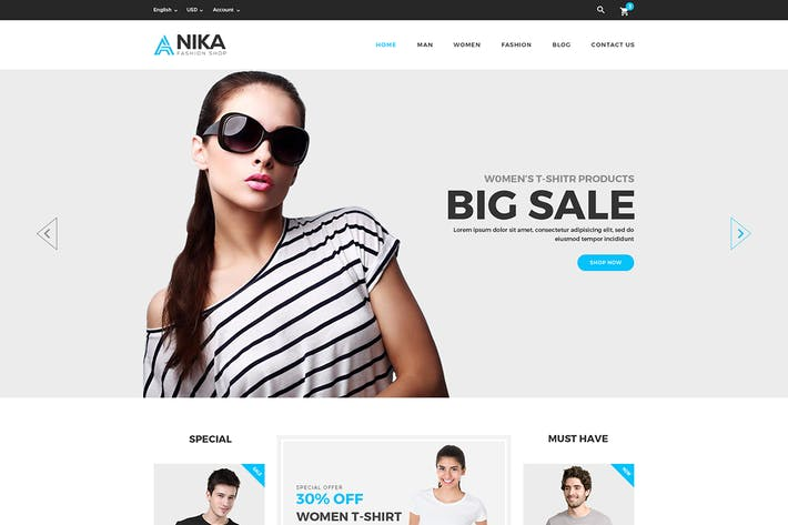 Thumbnail for Anika - Fashion Shop PSD Template