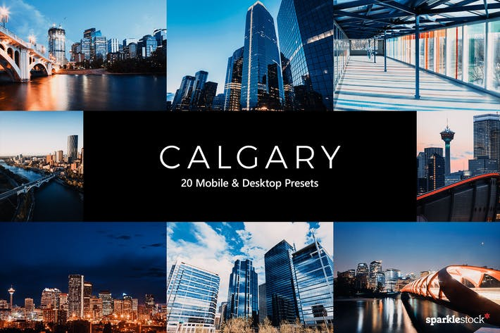 Thumbnail for 20 preajustes y LUTs de Calgary Lightroom