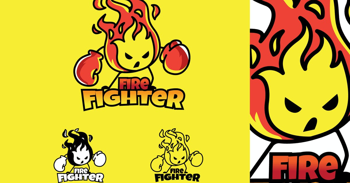Download FIRE FIGHTER - Mascot & Esport Logo by aqrstudio