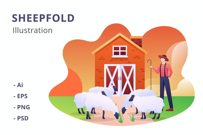 Thumbnail for Sheepfold Illustration