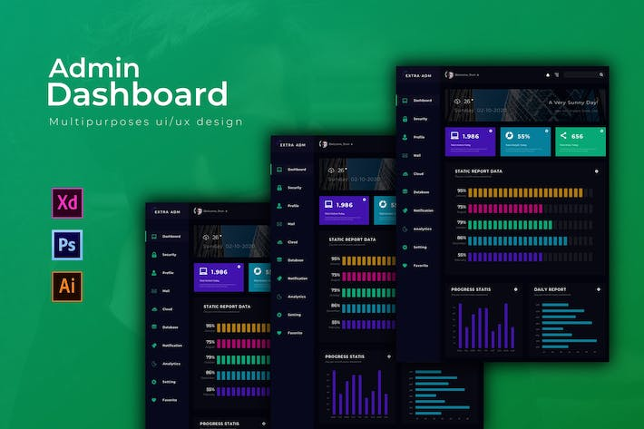 Thumbnail for Extra Dashboard | Admin Template