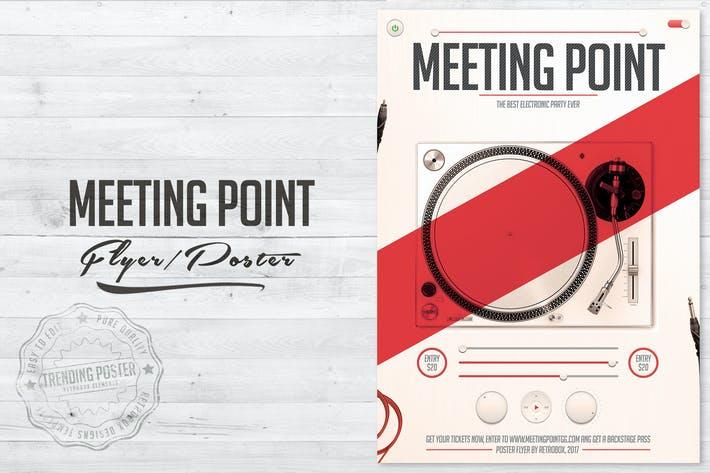 Cover Image For Meeting Point Flyer Poster