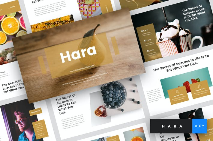 Cover Image For Hara - Food Keynote Template