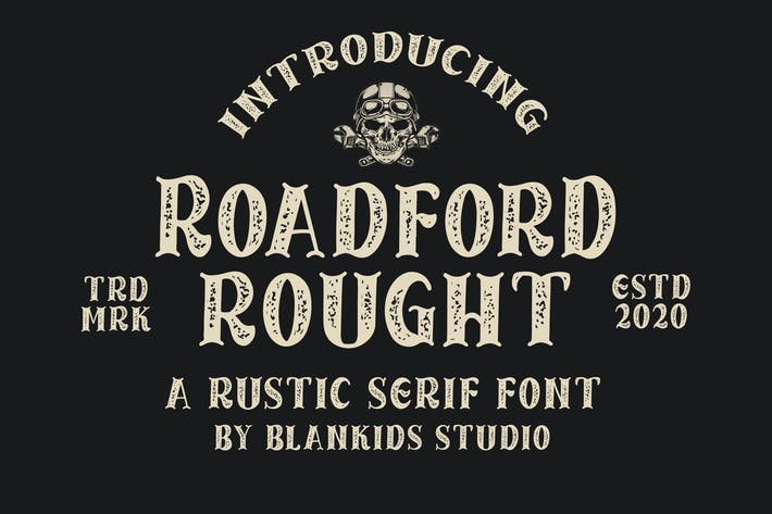 Thumbnail for Roadford Rought - Rustic Serif Font