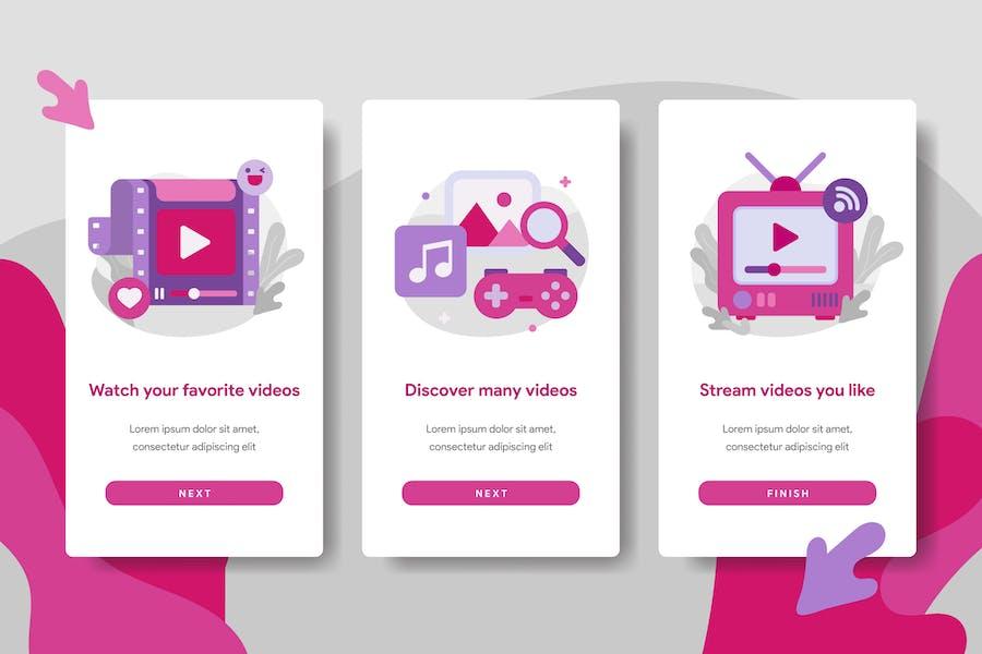 Video Streaming Application Illustration