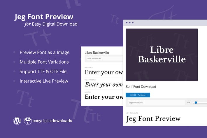 Thumbnail for Jeg Font Preview – for Easy Digital Download