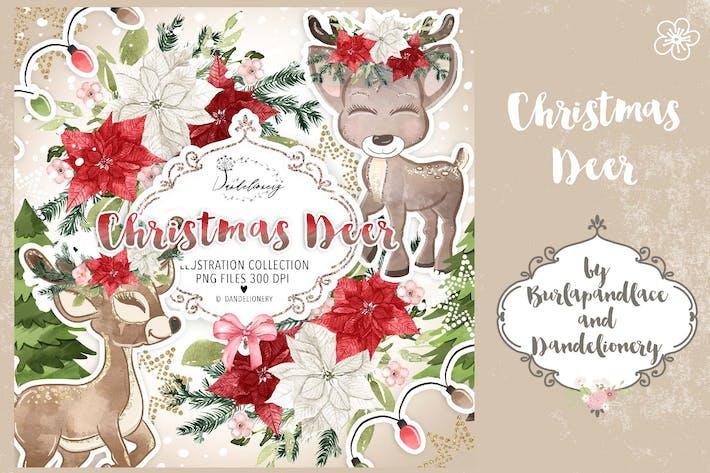 Thumbnail for Cute Deer Winter design