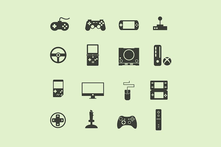 Thumbnail for 16 Game Console Icons
