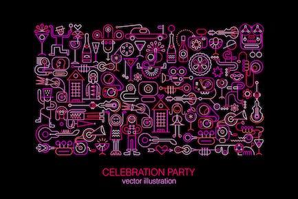 Celebration Party Vektor illustration