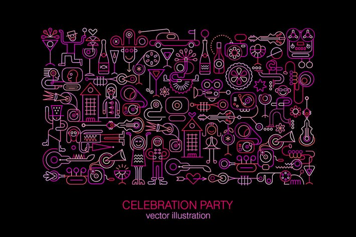 Thumbnail for Ilustración Vector Celebration Party