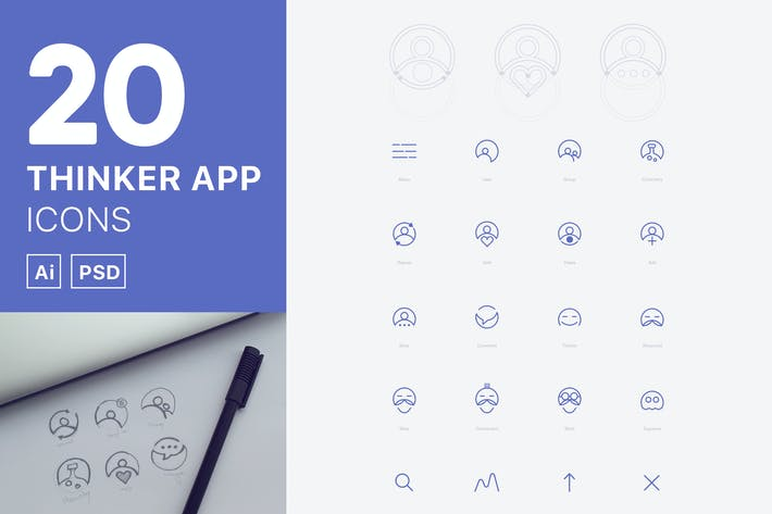 Thumbnail for Thinker App Icons