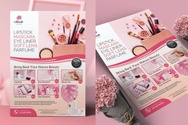 Cosmetic Flyer / Magazine Ad