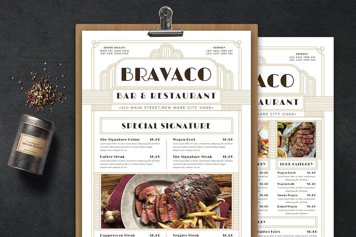 Thumbnail for Artdeco Food Menu